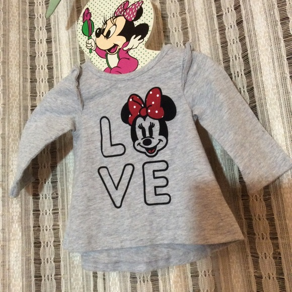 Disney Other - Disney Baby Jumping Beans SOFT Minnie Mouse Top